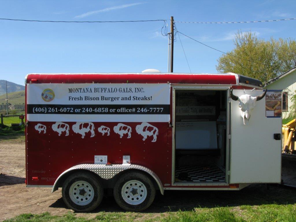 Montana Buffalo Gals Inc Bison Meat Food Truck