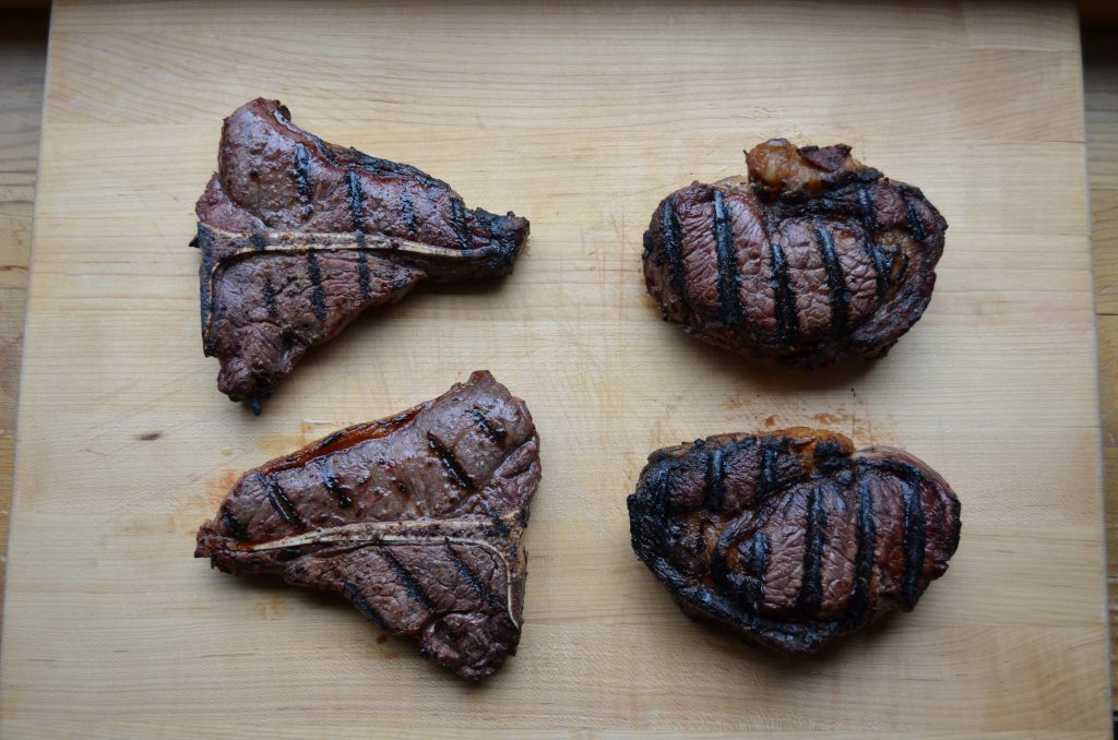 grilled bison steaks
